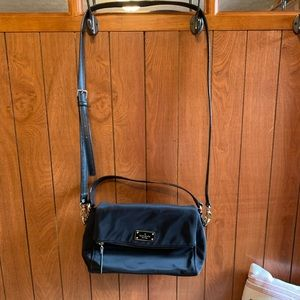 Nylon black Kate spade cross body.
